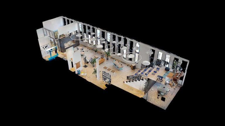 panoroom-netconomy-cxhub-wien-dollhouse-360 grad visualisierung durch panoroom
