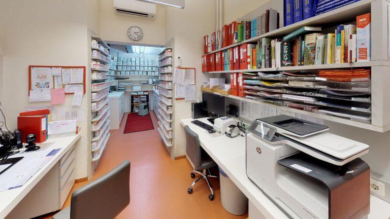 Opern-Apotheke-Graz Office virtualisiert in 360 grad durch panoroom.at