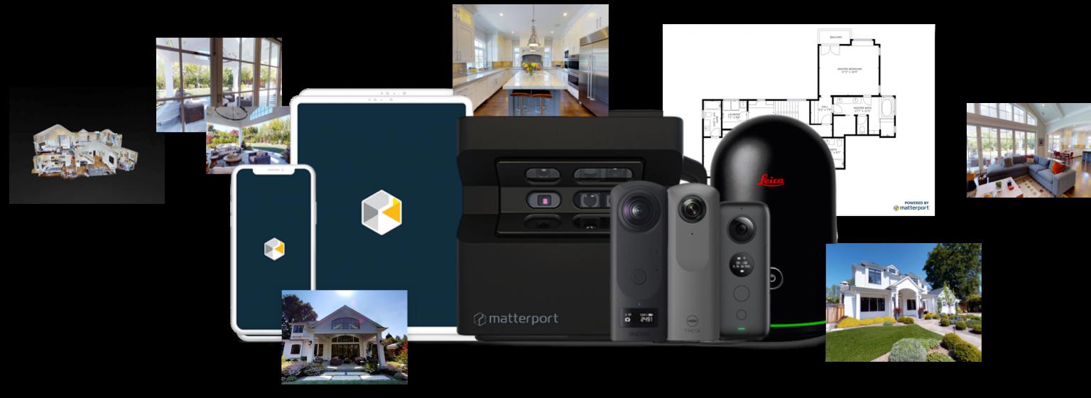 panoroom equipment vermietung diverser 360° kameras leica blk360 matterport pro2