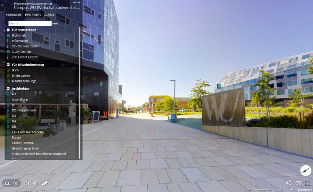 Virtuelles Wegweiser- Infosystem der WU Wien