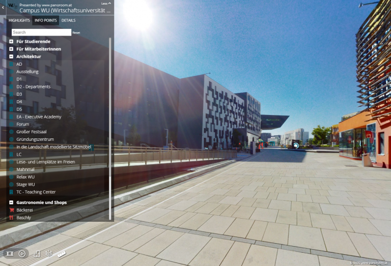 WU (Wirtschaftsuniversität Wien) - virtueller Wegweiser